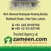 1.1 Kanal Residential Plot For Sale in Johar Town Phase 1 - Block D, Johar Town Phase 1