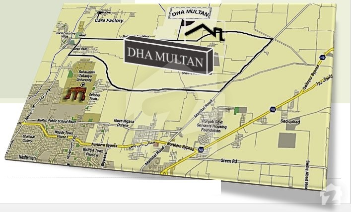 Map and Location of DHA Multan DHA Defence Multan Zameencom