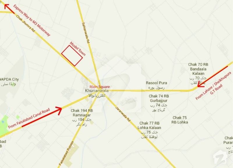 Map And Location Of Model Town Kohat Zameencom - Kohat map