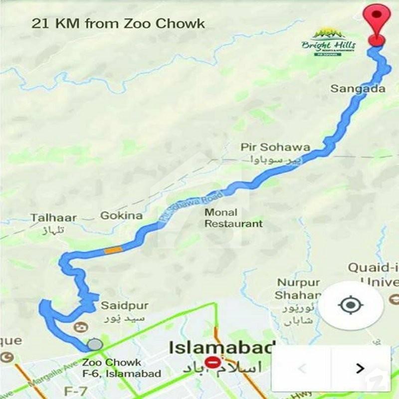 Map And Location Of Bright Hills Pir Sohawa Islamabad Zameencom - Saidpur map