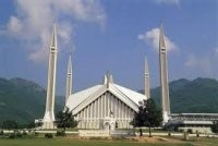 The iconic Faisal Masjid in Islamabad