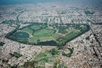 Aerial view of Model Town Lahore park