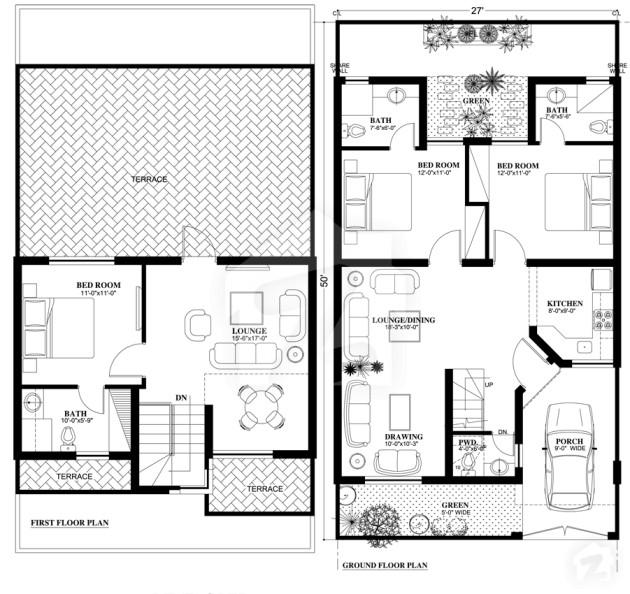 Contemporary 4 marlas floor plans