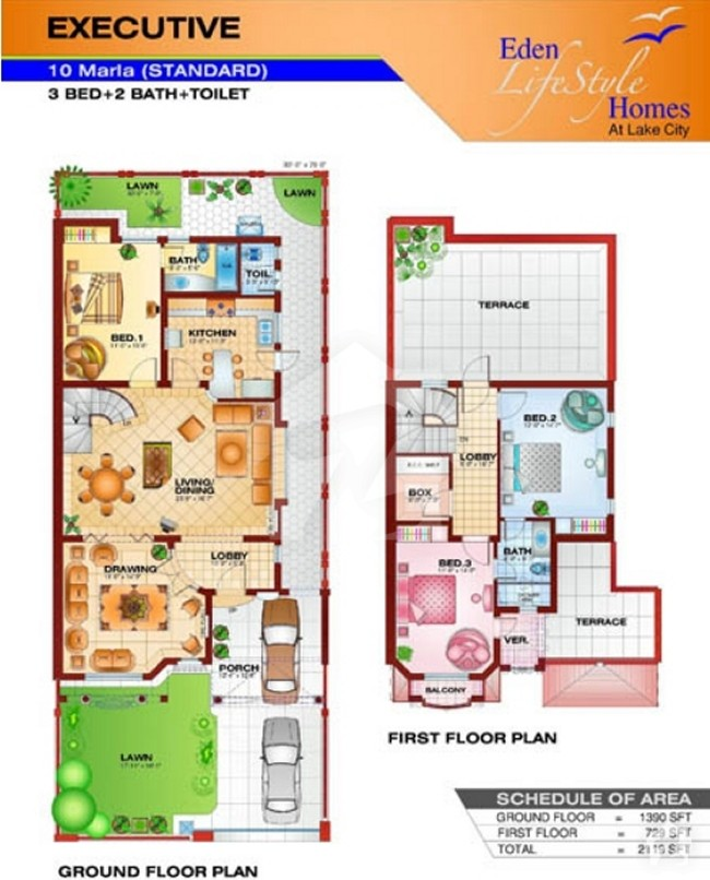 Floorplans Of Eden Life Style Homes Lake City, Lahore