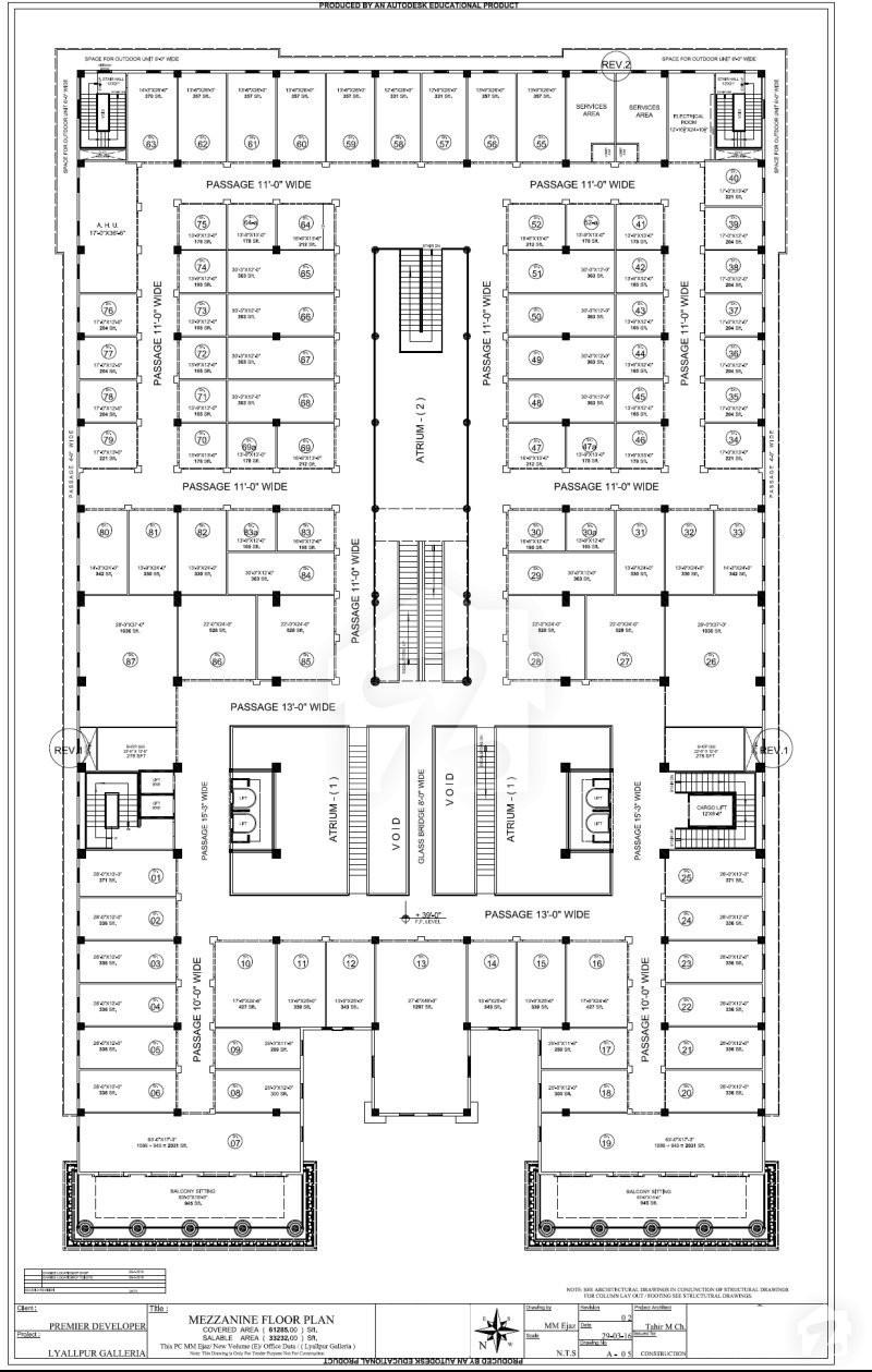 Floorplans of lyallpur galleria east canal road for Mezzanine floor plan