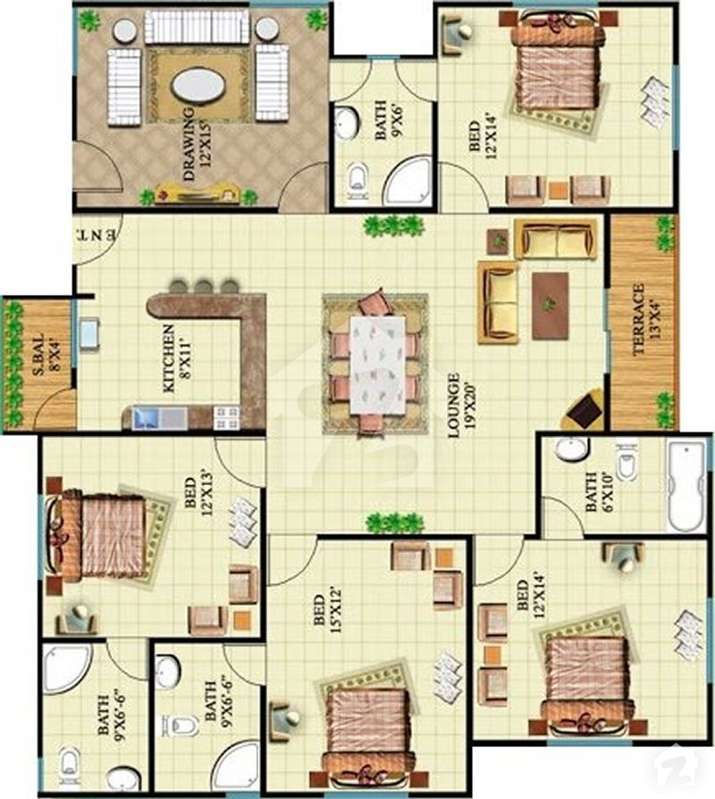 Golfview Apartments: Floorplans Of Sohni Golf View Apartments Gulshan-e-Roomi