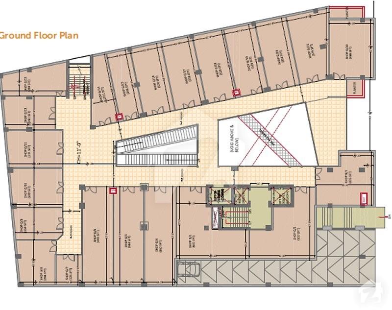 Floorplans of inertia shopping mall residency gt road for Gt issa floor plans