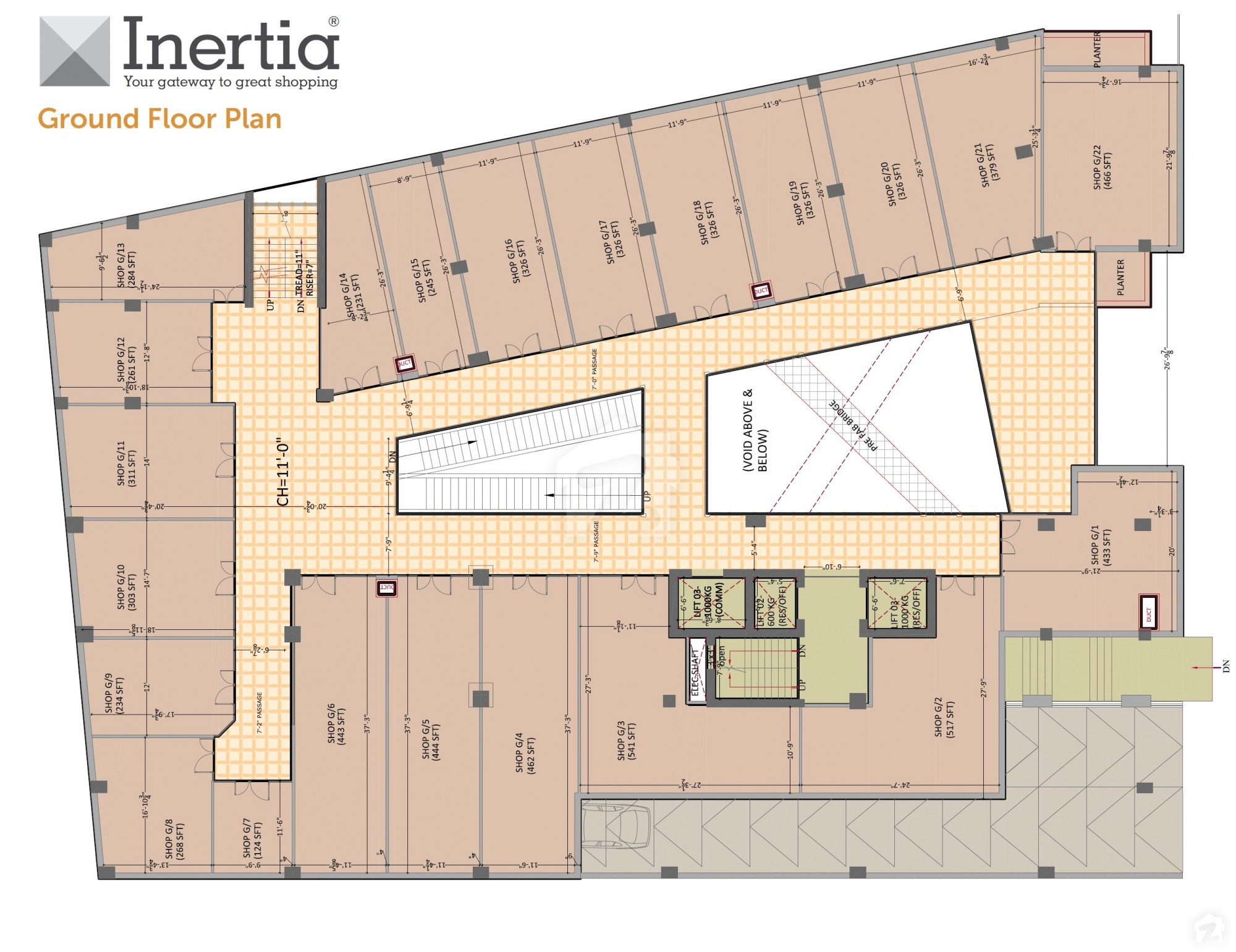 Floorplans Of Inertia Shopping Mall & Residency GT Road
