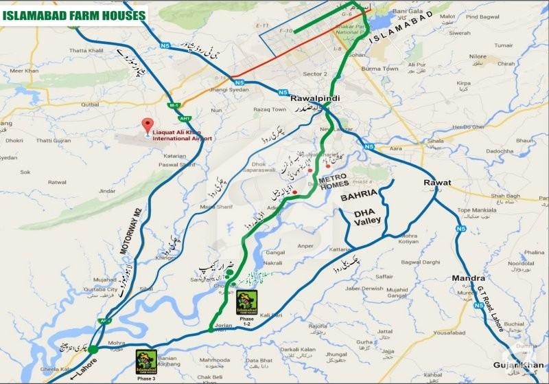 Map and Location of Islamabad Farm Houses Rawalpindi Zameencom