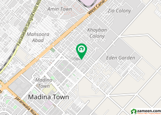 خیابان کالونی 2 فیصل آباد میں 5 مرلہ مکان 1 کروڑ میں برائے فروخت۔