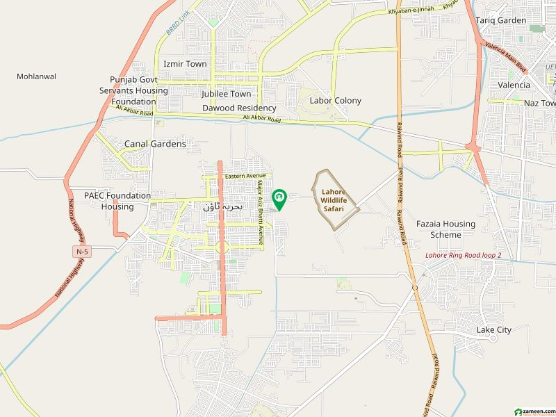 1 kanal Residential Plot For Sale In Nargis Block Extension Bahria Town