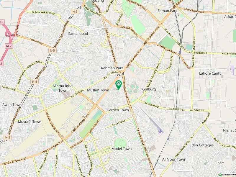 گارڈن ٹاؤن - ابو بھکر بلاک گارڈن ٹاؤن لاہور میں 4 کنال رہائشی پلاٹ 25 کروڑ میں برائے فروخت۔