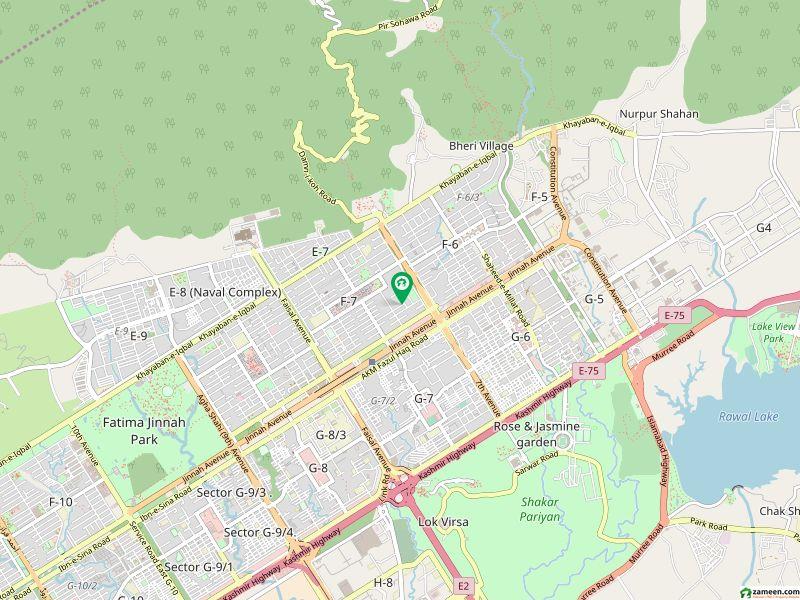 ایف ۔ 7/4 ایف ۔ 7 اسلام آباد میں 1.33 کنال رہائشی پلاٹ 9.5 کروڑ میں برائے فروخت۔
