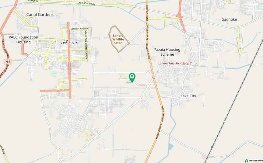 بیکن ہاؤس سوسائٹی لاہور میں 64 کنال زرعی زمین 75 کروڑ میں برائے فروخت۔