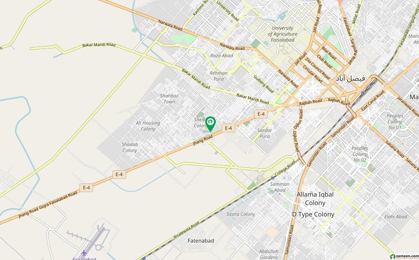 گلفشاں کالونی فیصل آباد میں 5 مرلہ مکان 65 لاکھ میں برائے فروخت۔