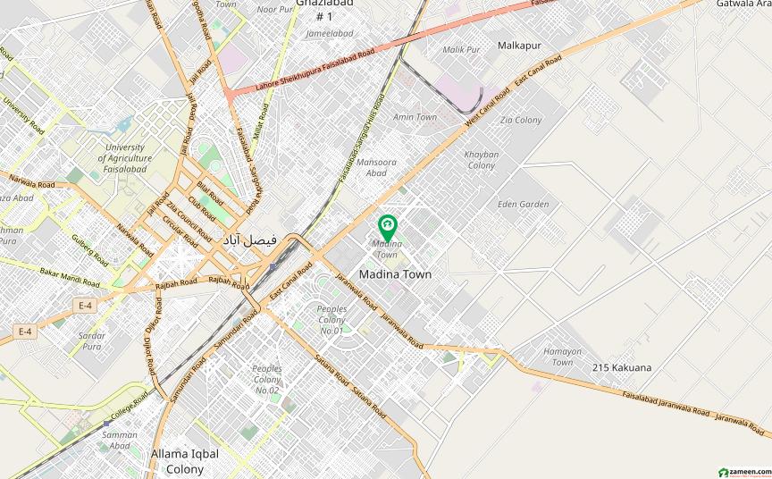 گلشنِ مدینہ فیصل آباد میں 5 کمروں کا 1 کنال مکان 4 کروڑ میں برائے فروخت۔
