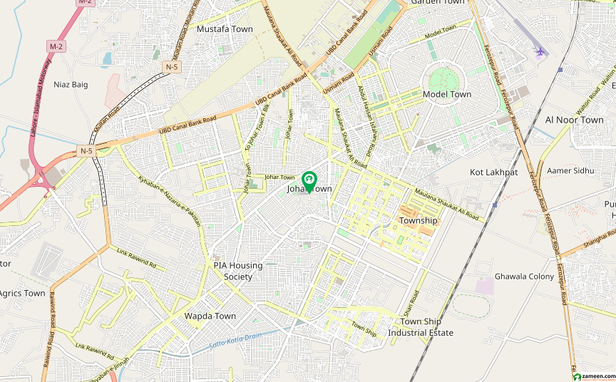 جوہر ٹاؤن لاہور میں 5 کنال کمرشل پلاٹ 48 کروڑ میں برائے فروخت۔