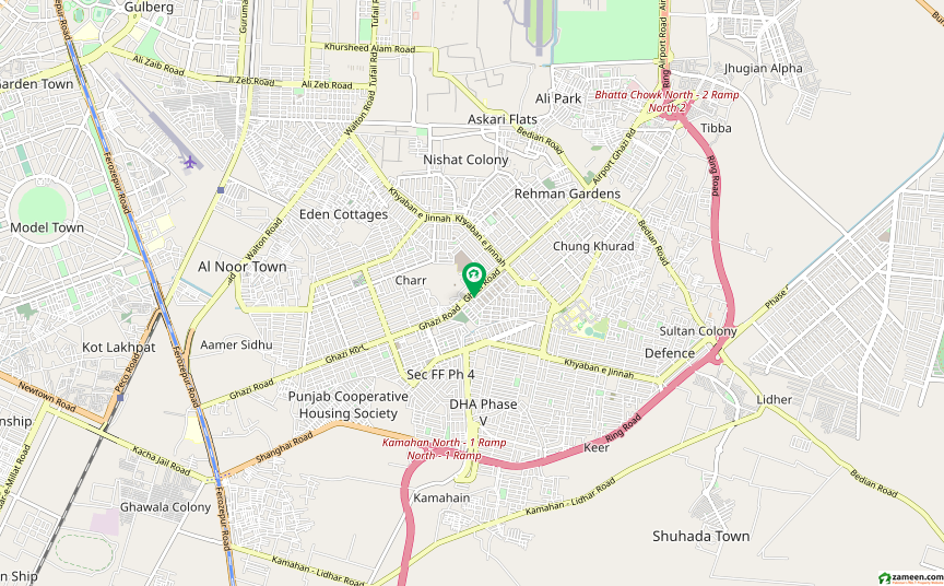 غازی روڈ کینٹ لاہور میں 2 کمروں کا 4 مرلہ فلیٹ 30 لاکھ میں برائے فروخت۔