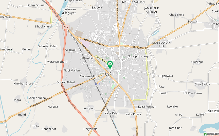 شاہ حسین روڈ گجرات میں 5 مرلہ مکان 55 لاکھ میں برائے فروخت۔