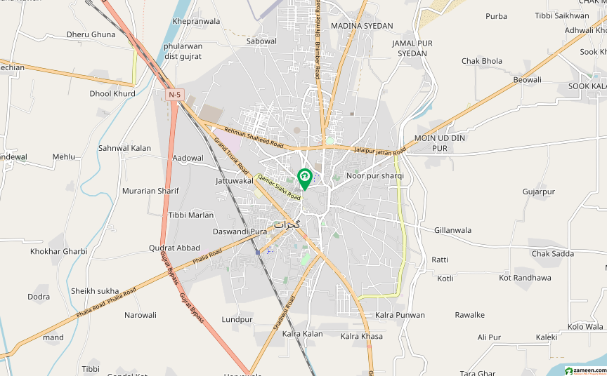 خواج غن روڈ گجرات میں 10 مرلہ مکان 1 کروڑ میں برائے فروخت۔