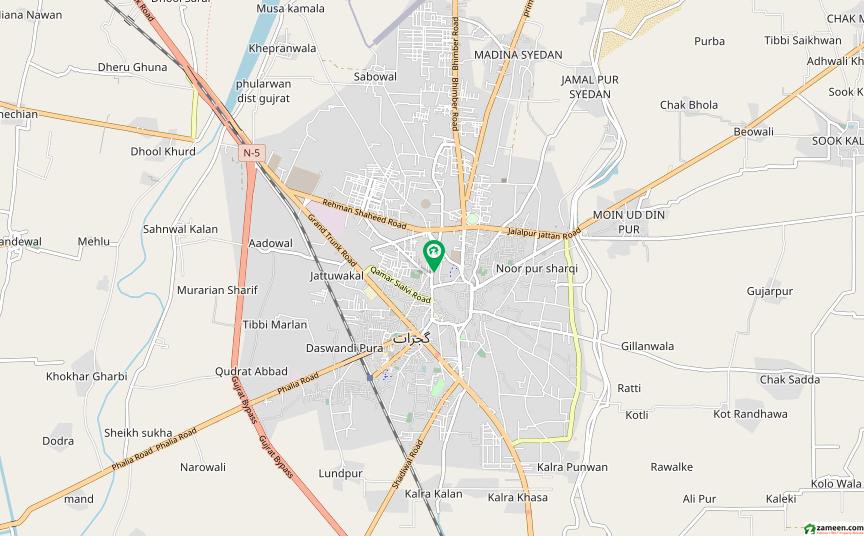 جناح روڈ گجرات میں 10 مرلہ مکان 4 کروڑ میں برائے فروخت۔