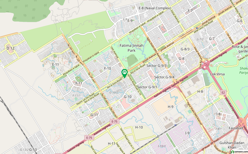 ابنِ سینا روڈ اسلام آباد میں 2.6 کنال کمرشل پلاٹ 1.3 ارب میں برائے فروخت۔