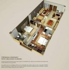 Two Bedrooms Apartments Corner