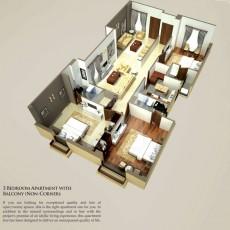 Three Bedrooms Apartments Non Corner