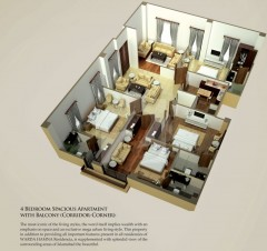 Four Bedrooms Apartments