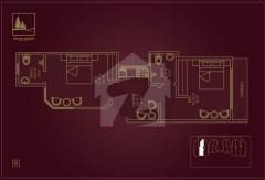2 Bedrooms Apartment - Floor Plan