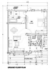 5 Marla One Bed Apartment - Ground Floor Plan