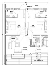 5 Marla Two Bed Apartment - Floor Plan