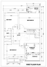 5 Marla Villa - First Floor Plan