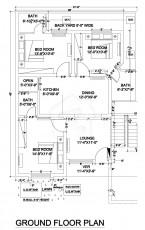 7 Marla Apartment - Floor Plan