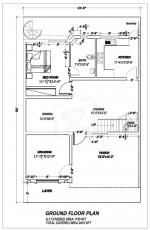 7 Marla Villa - Ground Floor Plan