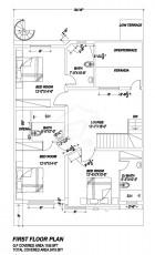 7 Marla Villa - First Floor Plan