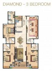 Diamond - Three Bedrooms Apartment