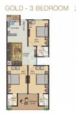 Gold - Three Bedrooms Apartment