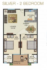 Silver - Two Bedrooms Apartment
