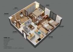 E-1 - Two Bedrooms Apartment