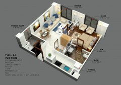 E-2 - One Bedroom Apartment