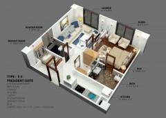 E-3 - One Bedroom Apartment