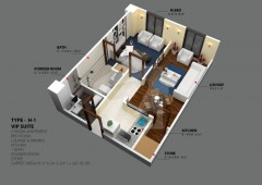 H-1 - One Bedroom Apartment