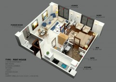 One Bedrooms - Pent House
