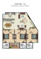 Sapphire AA - Three Bedrooms