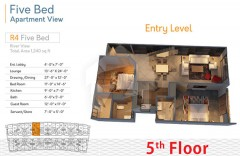 R4 Five Bedrooms - Entery level