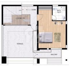 Internal First Floor cottage-B -  One Bedroom