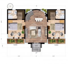 internal 1st floor Cottage A - Two Bedrooms