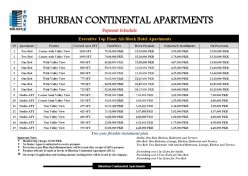 Payment Plan For Ali Block Hotel Apartment